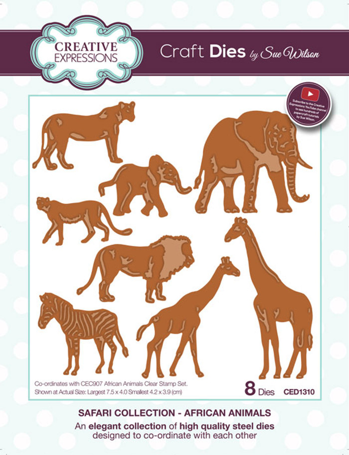 Sue Wilson Safari Collection - African Animals CED1310