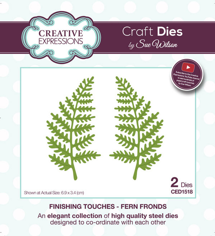 Sue Wilson Finishing Touches Collection Die -  Fern Frond CED1518