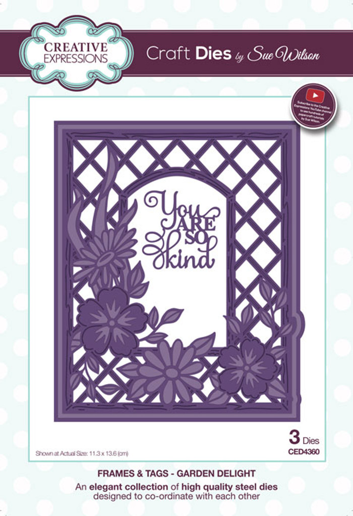 Sue Wilson Frames & Tags Collection Die - Garden Delight CED4360