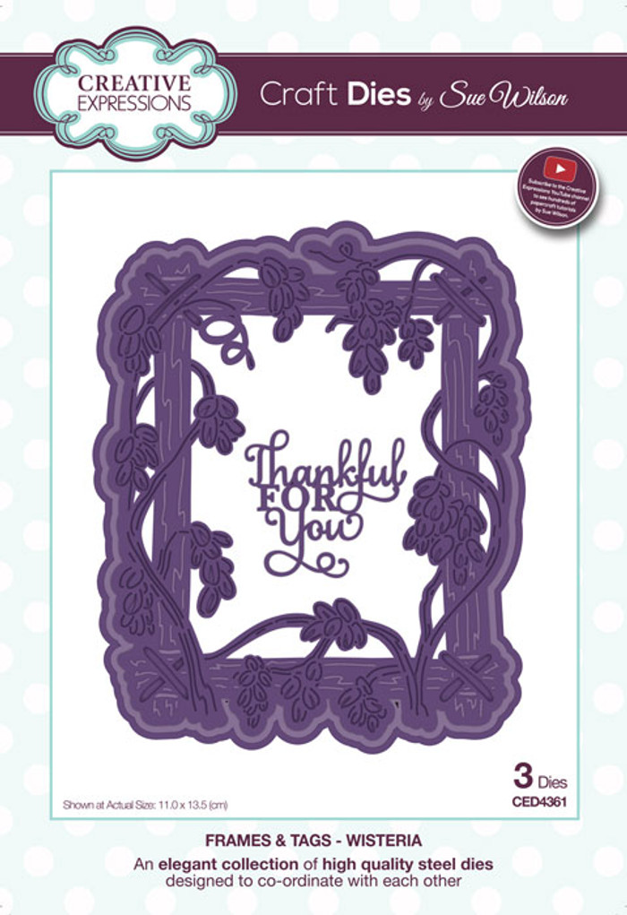 Sue Wilson Frames & Tags Collection Die - Wisteria CED4361