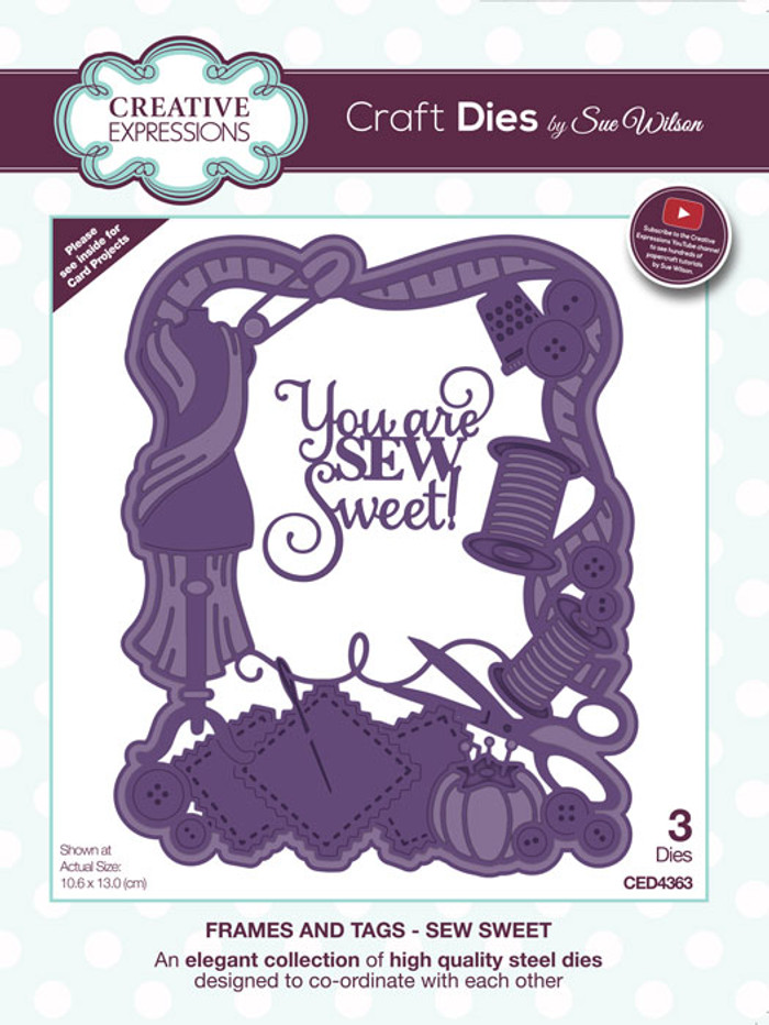 Sue Wilson Frames & Tags Collection Die - Sew Sweet CED4363