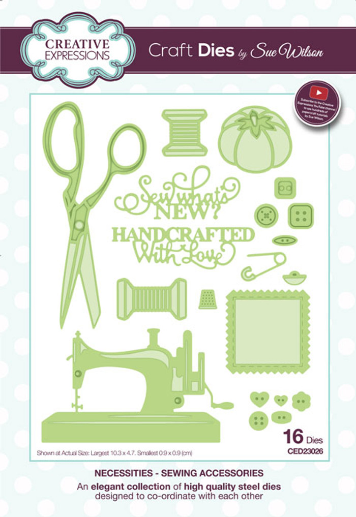 Sue Wilson Necessities Collection Die - Sewing Accessories CED23026