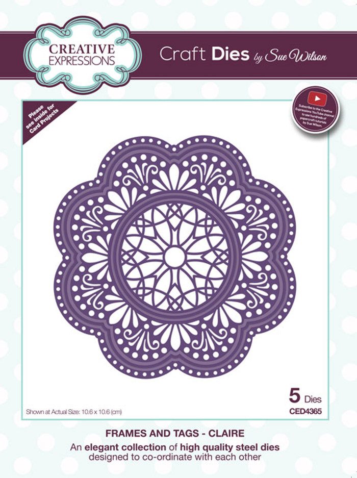 Sue Wilson Frames & Tags Collection Die - Claire CED4365