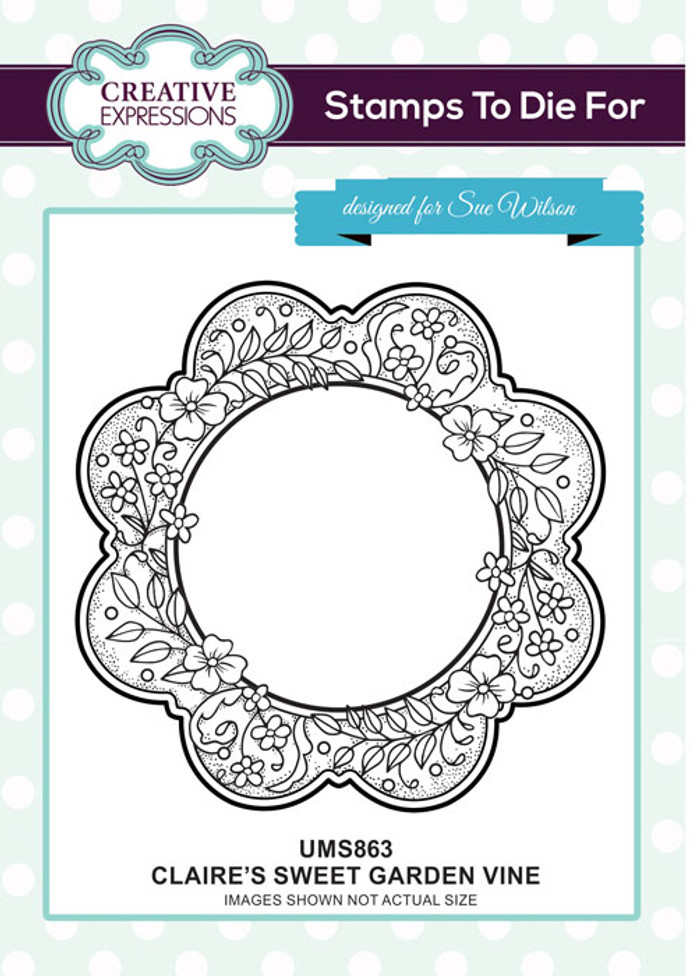 Sue Wilson Stamps To Die For - CLAIRE'S SWEET GARDEN VINE UMS863