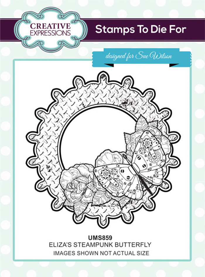 Sue Wilson Stamps To Die For - ELIZ'A STEAMPUNK BUTTERFLY UMS859