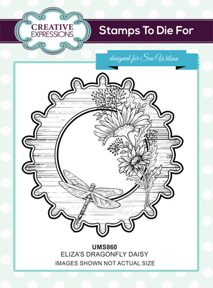 Sue Wilson Stamps To Die For - ELIZA'S DRAGONFLY DAISY UMS860