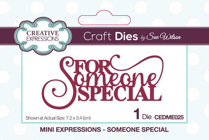 Sue Wilson Mini Expressions Collection Die - For Someone Special CEDME025