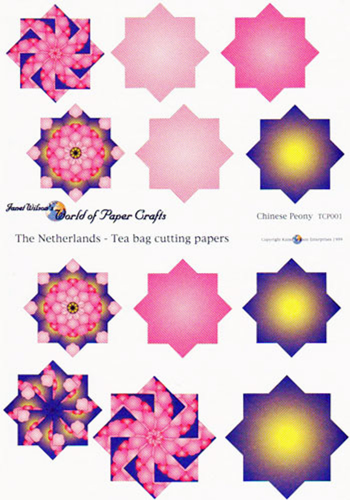 Chinese Peony Tea Bag Cutting Paper