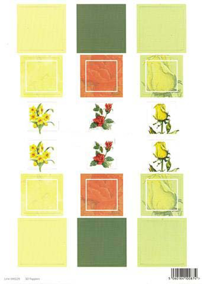 3D Die-Cut Sheet Craft UK - Block Narcissus  229