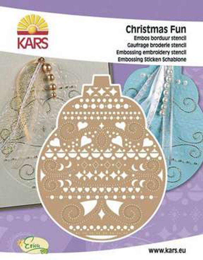 Christmas Fun - Embroidery & Embossing Stencil - Christmas Bauble