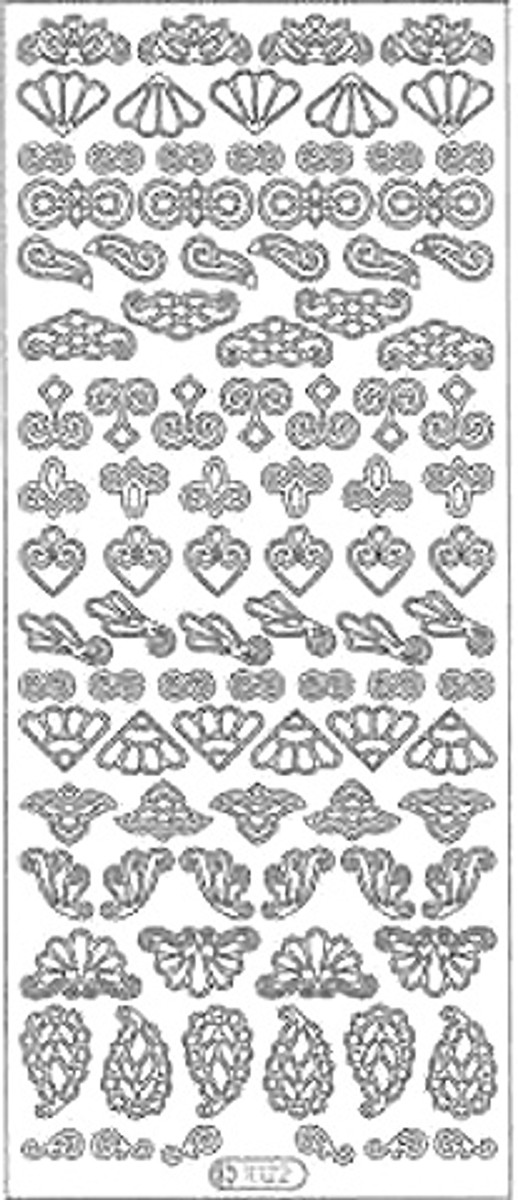 Starform Peel-Off Sticker - Ornaments and Decorations Silver 1022