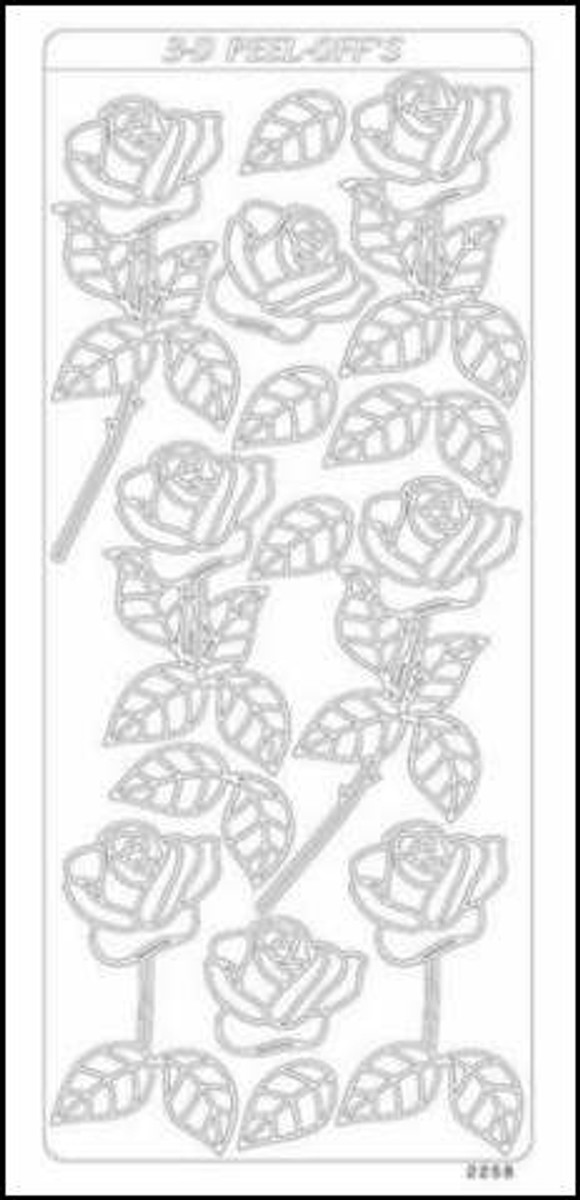 Starform Peel-Off Sticker - 3D Roses GOLD 426