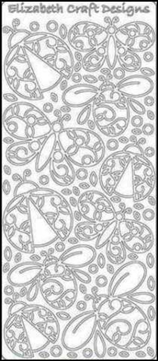 Elizabeth Craft Peel-Off Sticker Doodle - Bugs GOLD 341