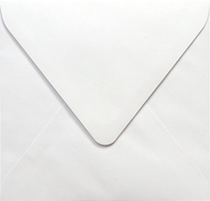 160mm Square Envelopes 100gsm - Knight White Pk 20
