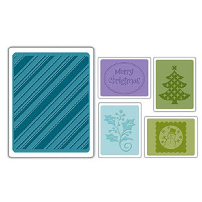 Sizzix embossing folder Christmas Set #4