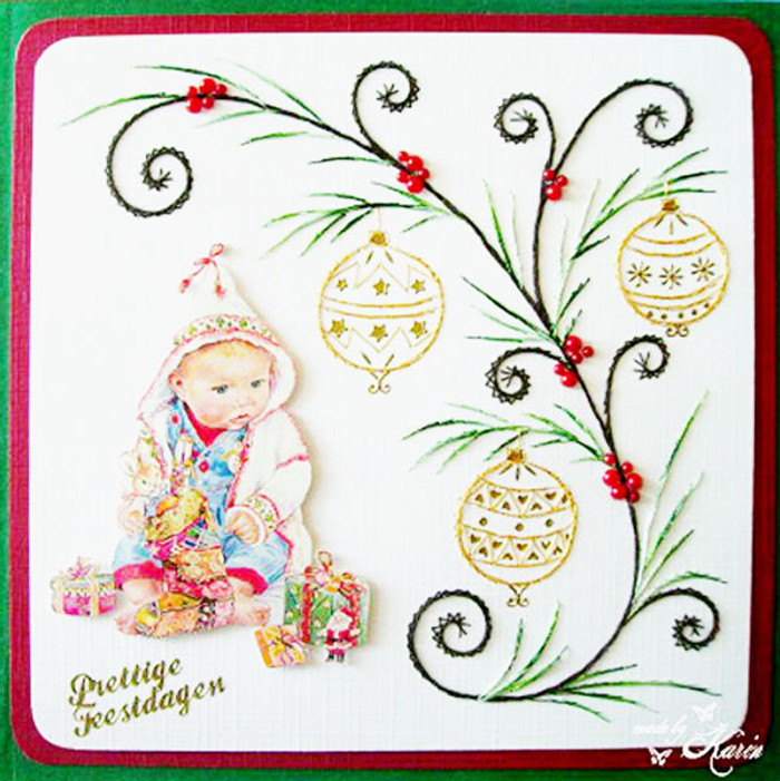 Karin's Creations  Card Stitching e-Pattern - Faithful KC019e