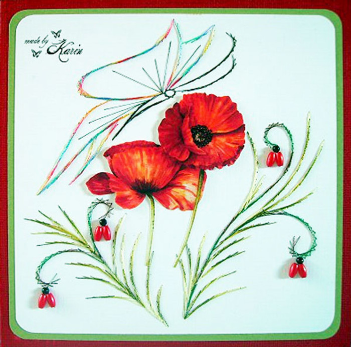 Karin's Creations Card Stitching e-Pattern - In Harmony KC007e