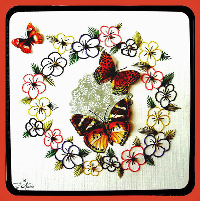 Karin's Creations Card Stitching e-Pattern - Summertime 3 KC028e