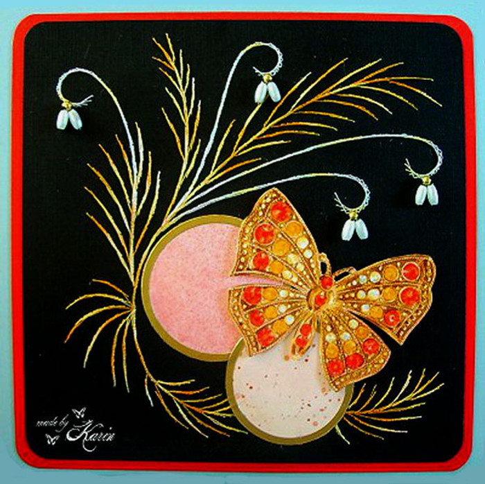Karin's Creations Card Stitching e-Pattern - Maybe KC008e