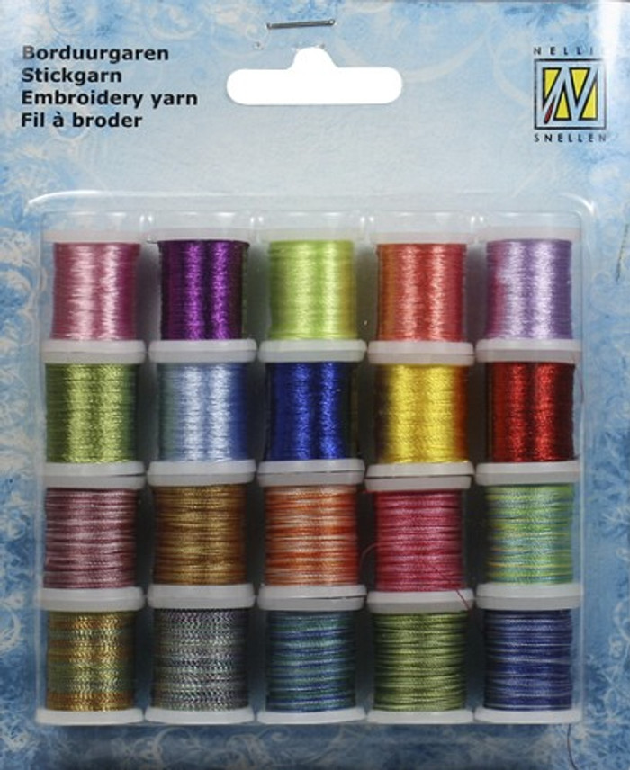 Nellie Snellen Card Embroidery Thread  Set 004 - 20 Spools