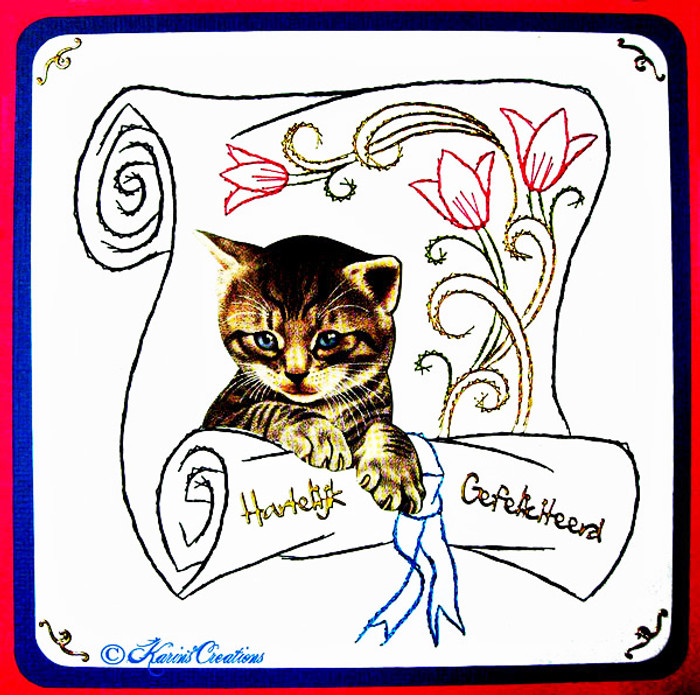 Karin's Creations Card Stitching e-Pattern - Surprise KC036e