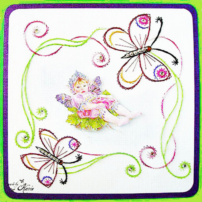Karin's Creations Card Stitching e-Pattern -  Cherubic KC018e