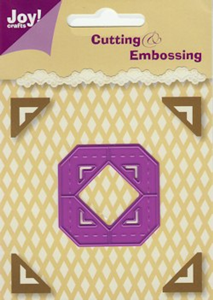 Joy! Crafts Cutting & Embossing Stencil Corners - Square 124