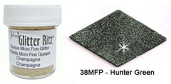 Glitter Ritz Microfine Glitter HUNTER GREEN 11g (1/2oz)