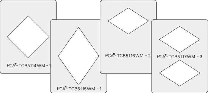 PCA Small Window Makers Set of 4 Diamond Shapes - C  TCB5100WMC
