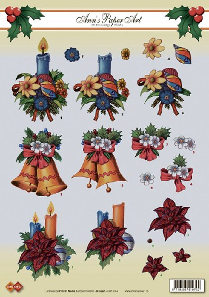 3D Sheet Ann's Paper Art - Christmas  CD10164