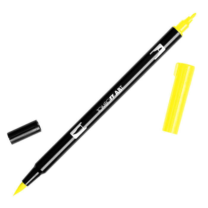 Tombow Dual Brush Marker - Process Yellow 055