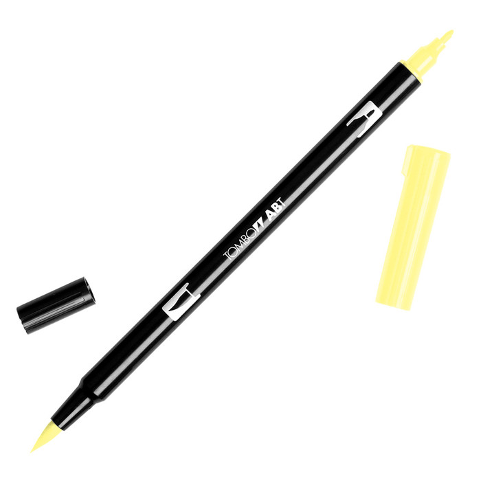 Tombow Dual Brush Marker - Baby Yellow 090