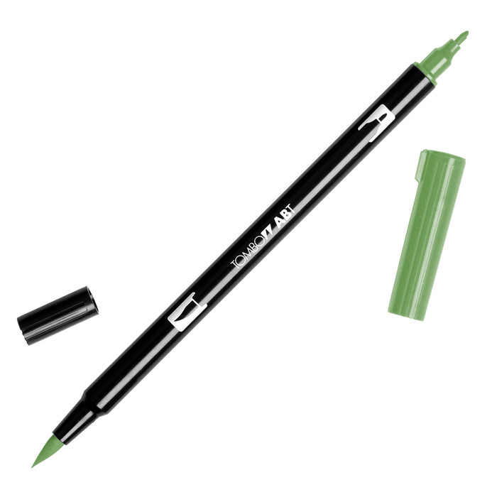 Tombow Dual Brush Marker - Dark Olive 158