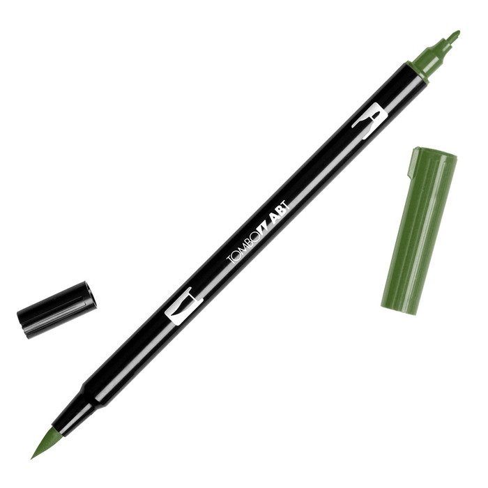 Tombow Dual Brush Marker - Dark Jade 177