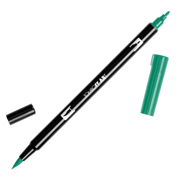 Tombow Dual Brush Marker - Dark Green 277