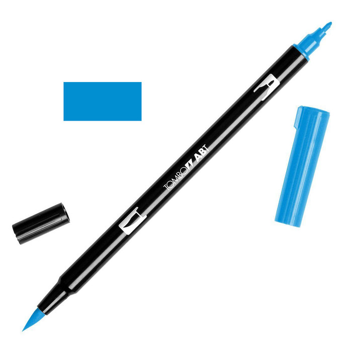 Tombow Dual Brush Marker - Reflex Blue 493