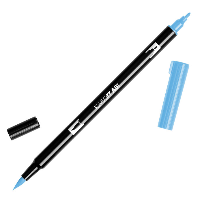 Tombow Dual Brush Marker - Peacock Blue 533