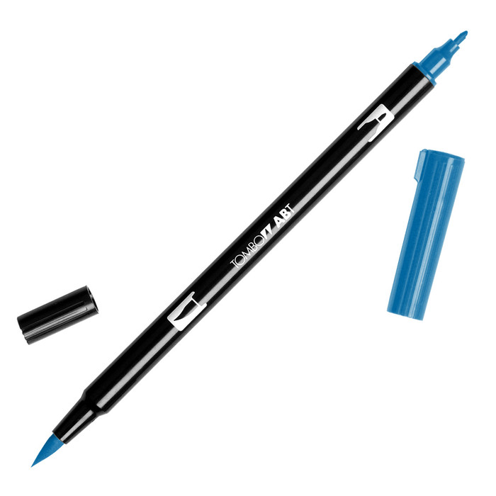 Tombow Dual Brush Marker - Cobalt Blue 535