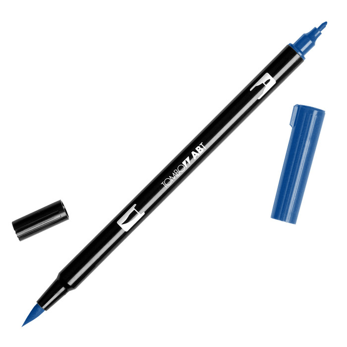 Tombow Dual Brush Marker - Deep Blue 565