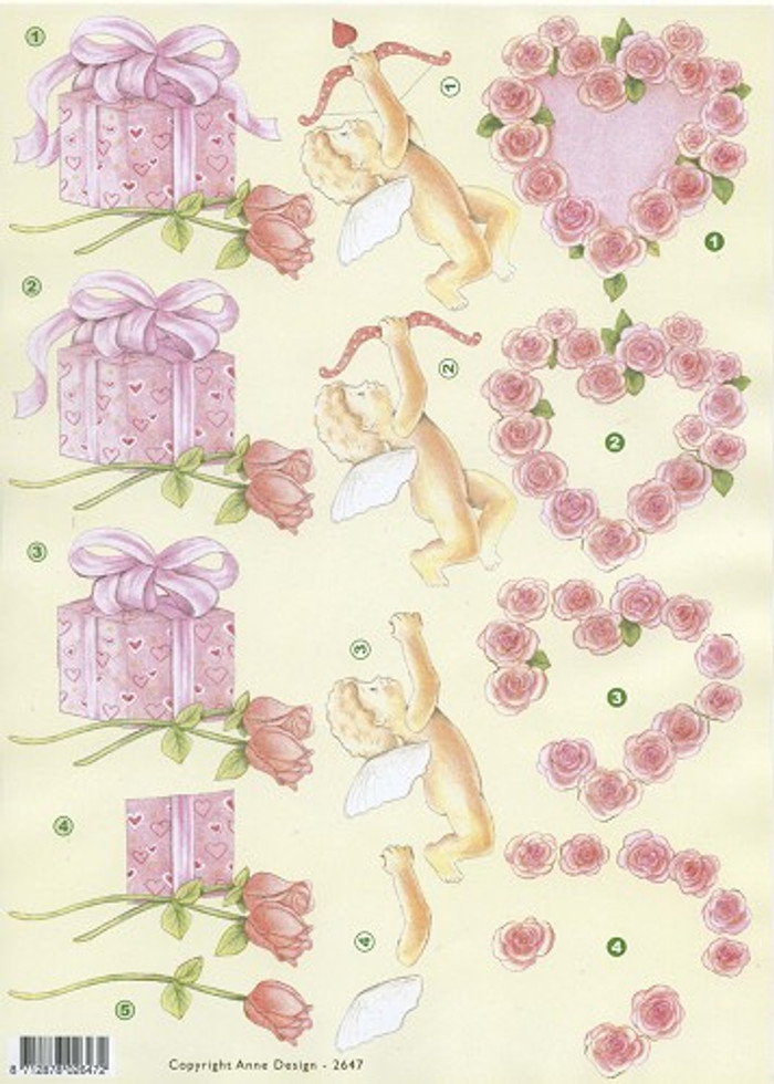 3D Sheet - Anne Design Love Theme  AD2647