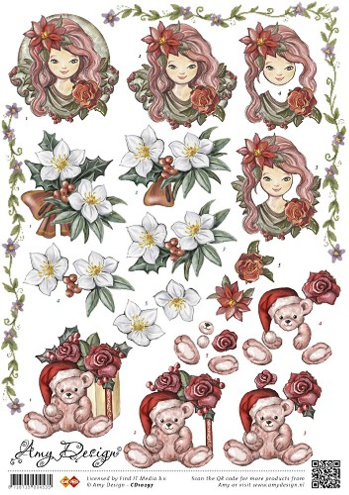 3D Sheet Amy Design  - Christmas CD10297