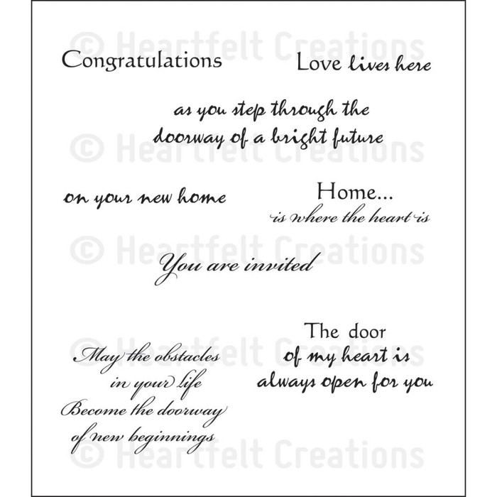 "Heartfelt Creations Cling Rubber Stamp Set - Door to My Heart  5"" x 6.5"""