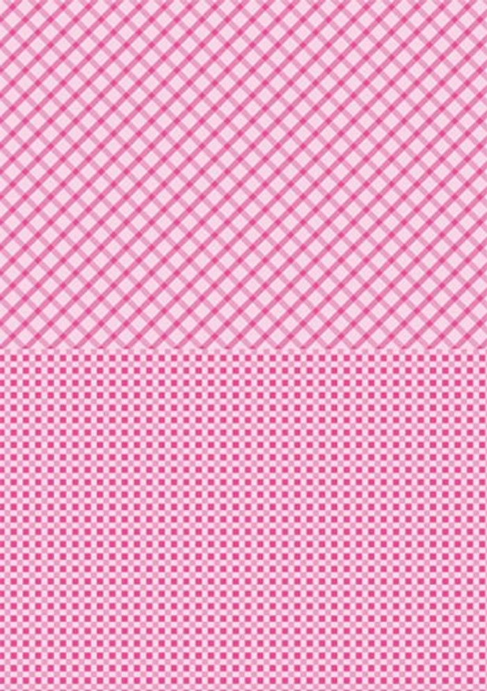 A4 Double-Sided Paper - Pink Squares - Single Sheet