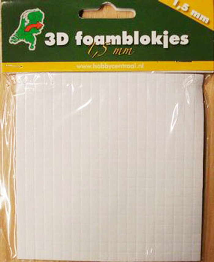 3D Foam Squares Hobbycentraal  - 5mm x 1.5mm