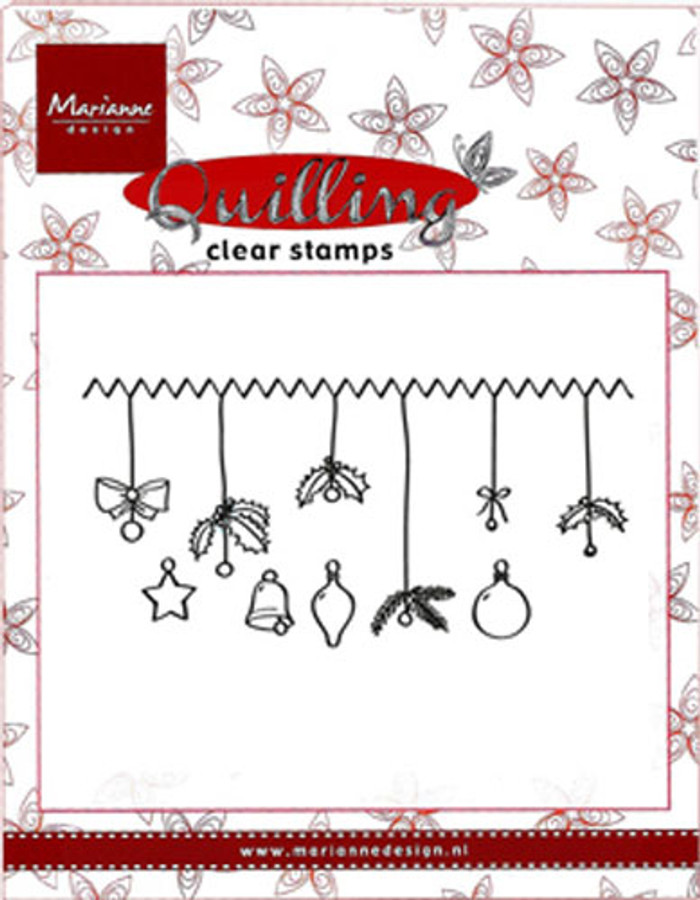 Marianne Design Quilling Clear Stamp - Christmas Decorations