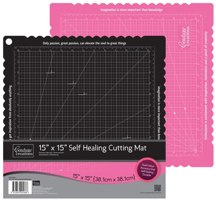 "Couture Creations Self Healing Cutting Mat (2 Colours) - 38cm x 38cm (15"" x 15"")"