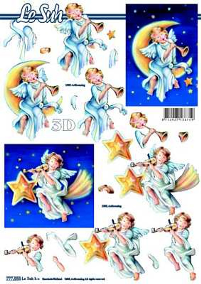 3D Sheet Le Suh - Christmas Angel 777555