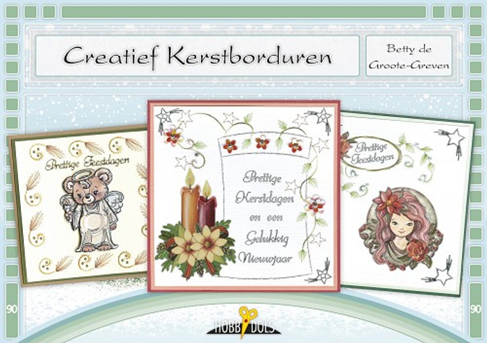 Hobbydols 90 -  Creatief Kerstborduren (Creative Christmas Embroidery) (Dutch Language)