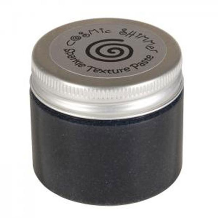 Cosmic Shimmer Sparkle Texture Paste 50ml Pot - MIDNIGHT