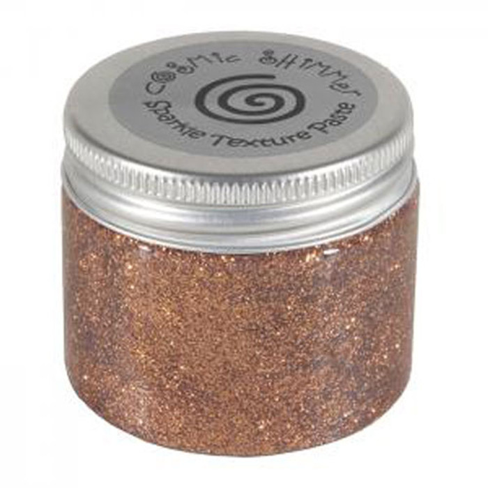 Cosmic Shimmer Sparkle Texture Paste 50ml Pot - PENNY COPPER